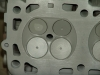 Projects - Porcshe 928 - close view of ceramic head crown with close view of the larger 968 intake valves
