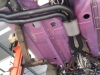 Underview of exhaust