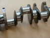 Projects - Porcshe 928 - crank view note blue tapered plugs from crossing drilling