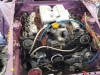 engine installed with part wiring loom